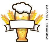 label beer. glass of light beer ... | Shutterstock .eps vector #545720545