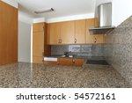 empty beautiful flat  kitchen | Shutterstock . vector #54572161