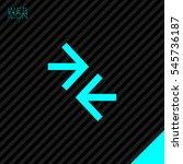 contact vector icon. arrows...   Shutterstock .eps vector #545736187