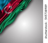 azerbaijan waving silky flag...