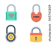 lock icons set vector. | Shutterstock .eps vector #545741839