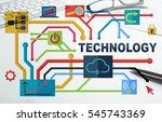 social media and network... | Shutterstock . vector #545743369