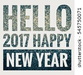 blue glitter message  hello...   Shutterstock . vector #545750071