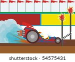 a racing car first comes to the ... | Shutterstock . vector #54575431