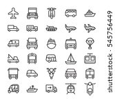 transport colored vector icons 3 | Shutterstock .eps vector #545756449