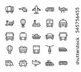 transport colored vector icons 1 | Shutterstock .eps vector #545756455