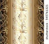 baroque seamless pattern. 3d...   Shutterstock .eps vector #545761321