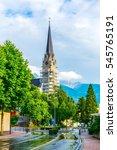 view of a church in vaduz ... | Shutterstock . vector #545765191