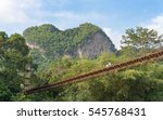 heart mountain in surat thani... | Shutterstock . vector #545768431