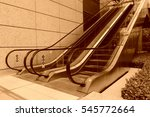 glass automatic elevator ... | Shutterstock . vector #545772664