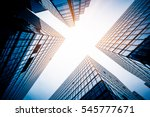low angle view of skyscrapers... | Shutterstock . vector #545777671