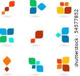 collection of vector modern... | Shutterstock .eps vector #54577852