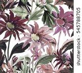 seamless  pattern bouquet of... | Shutterstock . vector #545788705