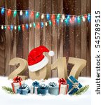 christmas background with a... | Shutterstock .eps vector #545789515