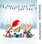 new year holiday background... | Shutterstock .eps vector #545794495