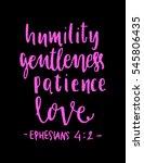 humility  gentleness patience ... | Shutterstock .eps vector #545806435