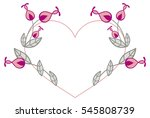 heart shaped frame with... | Shutterstock .eps vector #545808739