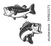 set of bass fish icons isolated ... | Shutterstock .eps vector #545815171
