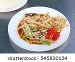 thai papaya salad. | Shutterstock . vector #545820124