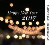 happy new year 2017   Shutterstock . vector #545820841