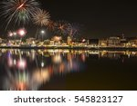 beautiful firework display for... | Shutterstock . vector #545823127