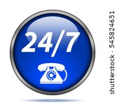 24 7 support phone icon.... | Shutterstock . vector #545824651