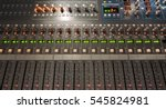 large mixing board with faders...   Shutterstock . vector #545824981