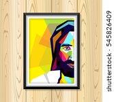 portrait of jesus in pop art