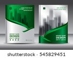 brochure template layout  green ... | Shutterstock .eps vector #545829451