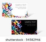 set of modern business card... | Shutterstock .eps vector #54582946