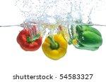 Pepper Falling In Water