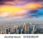 panoramic aerial view of dubai...   Shutterstock . vector #545838049