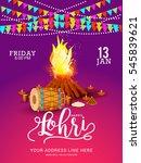 punjabi festival of lohri... | Shutterstock .eps vector #545839621