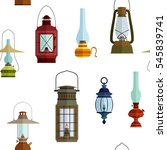 seamless pattern with lanterns... | Shutterstock .eps vector #545839741