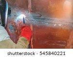 close up worker ship repair...   Shutterstock . vector #545840221