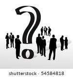 a group of people with question ... | Shutterstock .eps vector #54584818