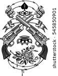 guns and roses | Shutterstock .eps vector #545850901