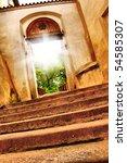 nice old gate vith sun light | Shutterstock . vector #54585307