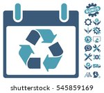 recycle calendar day icon with...