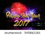happy new year fireworks 2017 | Shutterstock . vector #545862181