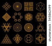 set of geometric tattoo icons.... | Shutterstock .eps vector #545862499
