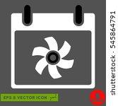 fan calendar day icon. vector...   Shutterstock .eps vector #545864791