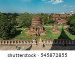 buddha statues around chedi...   Shutterstock . vector #545872855