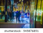 people on neon city street  | Shutterstock . vector #545876851