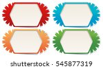 label templates in four colors... | Shutterstock .eps vector #545877319