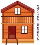 house made of woods illustration | Shutterstock .eps vector #545877325