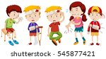 children with wounds from... | Shutterstock .eps vector #545877421