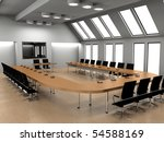 modern interior of a conference ... | Shutterstock . vector #54588169