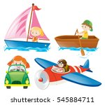 kids in different types of... | Shutterstock .eps vector #545884711