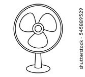 Ventilator Icon. Outline...